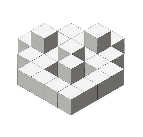 圖是要對稱才能砌得到