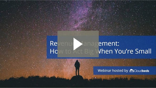 Revenue Management: How to Act Big When You're Small