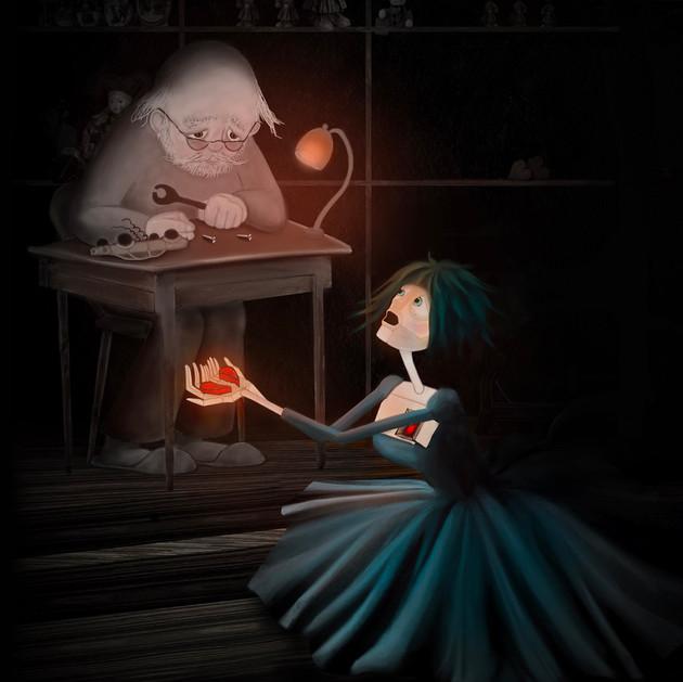 Wooden heart -  children's tale