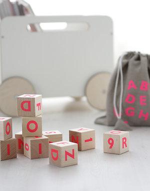 Alphabet Blocks - Pink