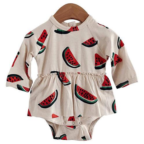 Skirted Bodysuit Watermelon