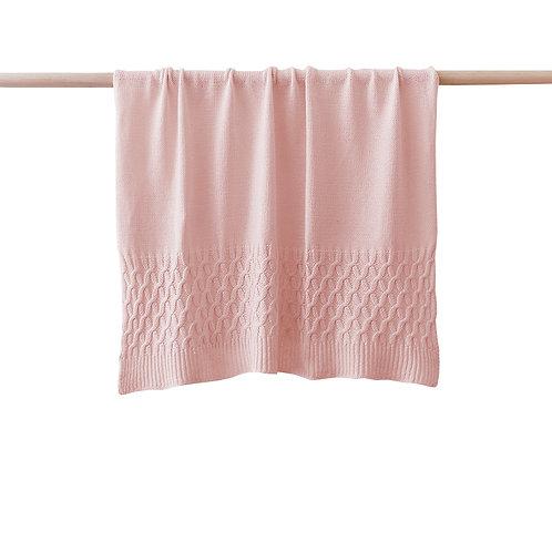 Soft Knit Blanket - Pink