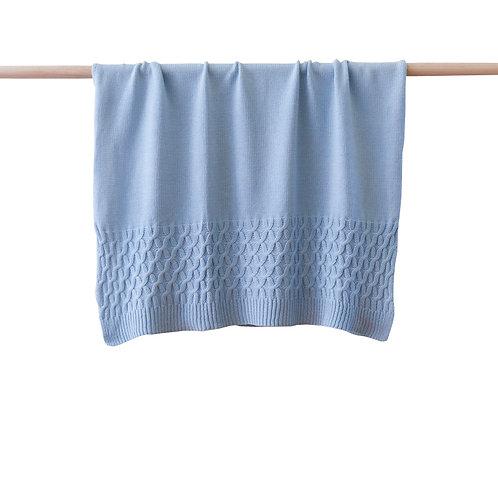 Soft Knit Blanket - Blue
