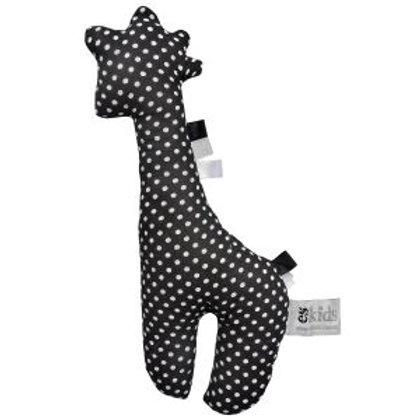 Black Spotty Giraffe Rattle