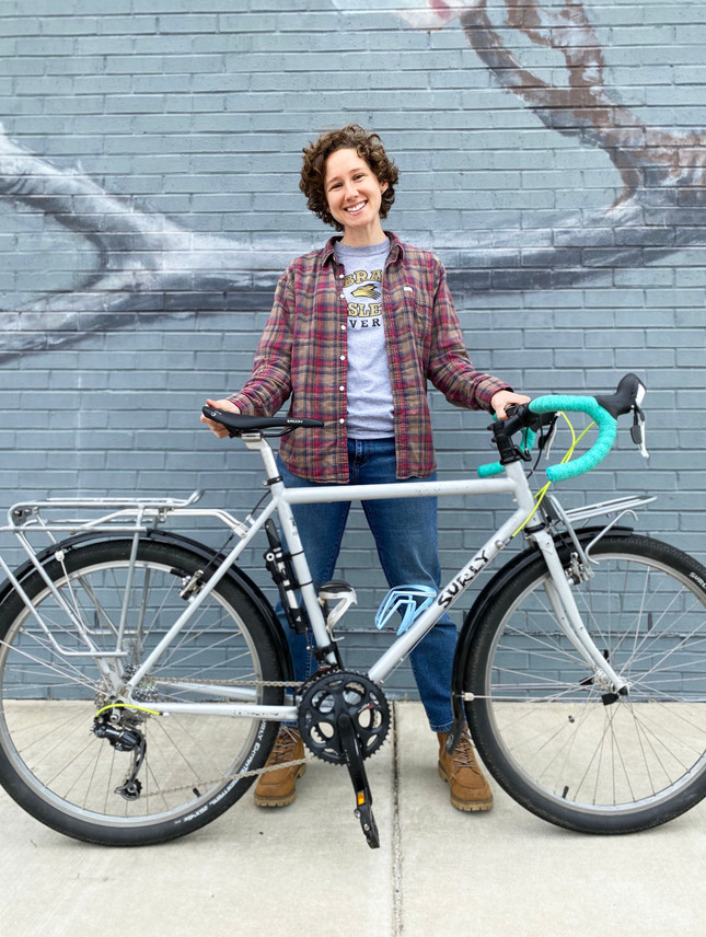 Mia and her Surly Long Haul Trucker