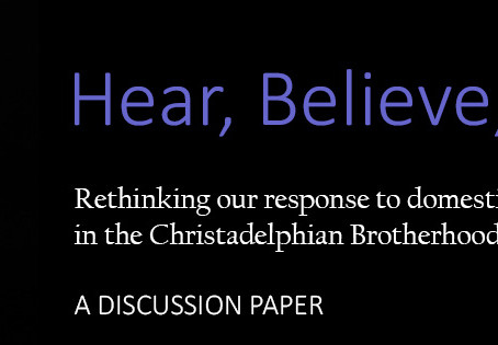 Hear Believe Act: one month update - please tell your friends and your ecclesia