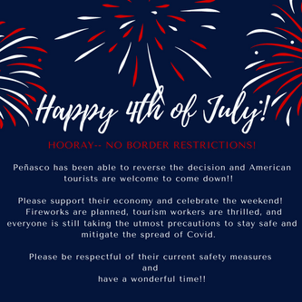 No border restrictions for July 4th weekend!