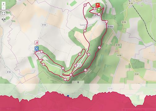 Parcours 15km Trail de la colline