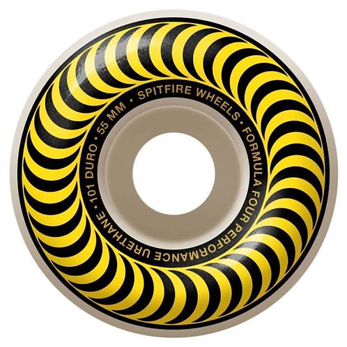 Yellow Spitfire formula fours 52mm