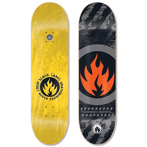 Black Label Circle Flame Deck 8.5