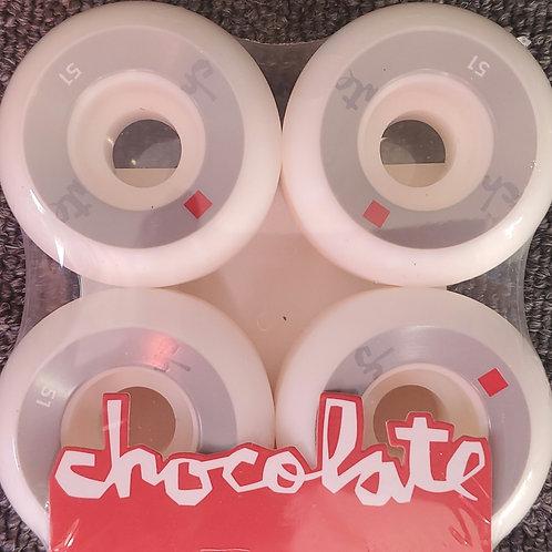 Chocolate Lost Chunk Skateboard Wheels - Staple - 51mm - Set of 4