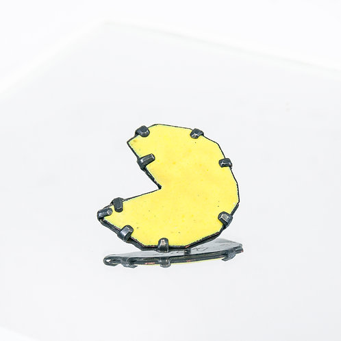 Front view from Pac Man pin in Yellow