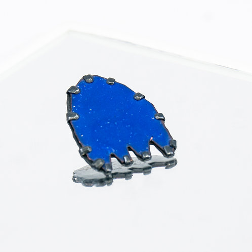 Front view from Pac Man pin in Dark Blue