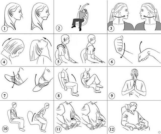 Упражнения в самолете