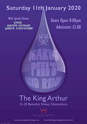 Icarus Peel's Acid Reign. Glastonbury. 11/01/20