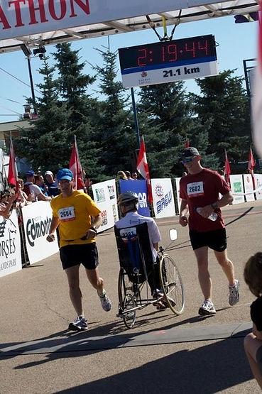 2011 haf Marathon race crossing finish line