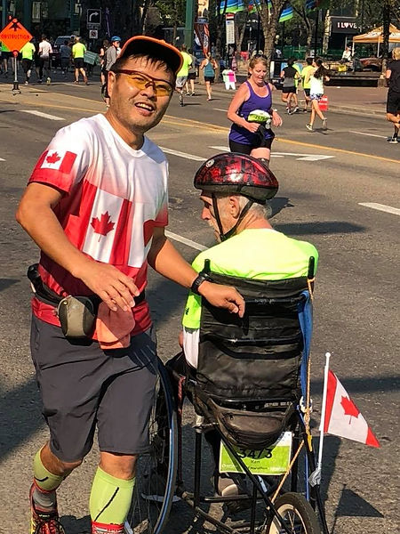 Me and Hiro running