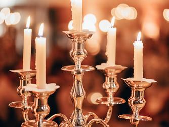 Silber - Kerzenständer