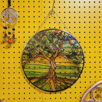 Tree Stained Glass Suncatcher