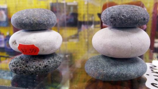 Desk Zen Rock Stacks