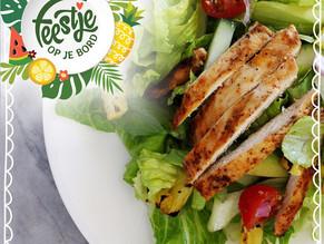 Feestje op je bord: Tropische salade met kip