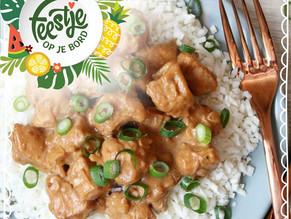 Feestje op je bord: Bloemkool Nasi met kipsaté