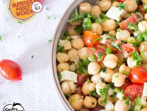 Vega week: Griekse salade met kikkererwten