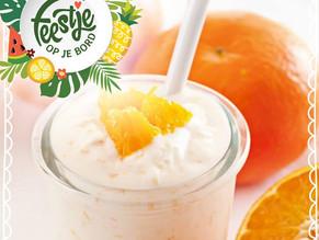 Feestje op je bord: ontbijt met kwark en sinaasappel
