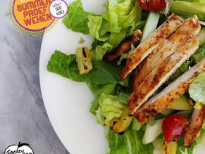 Salad4Lunch: Tropische salade met kip, paprika en ananas