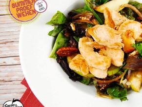 Salad4Lunch: Spinaziesalade met kip, nectarines en pecannoten
