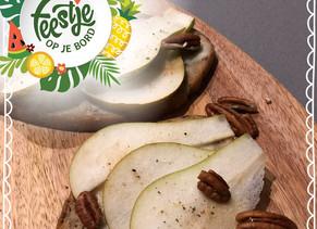 Feestje op je bord: roggebrood met peer