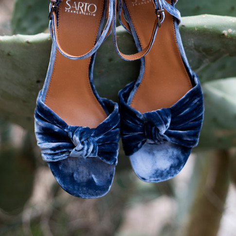 Blue Swade Shoes