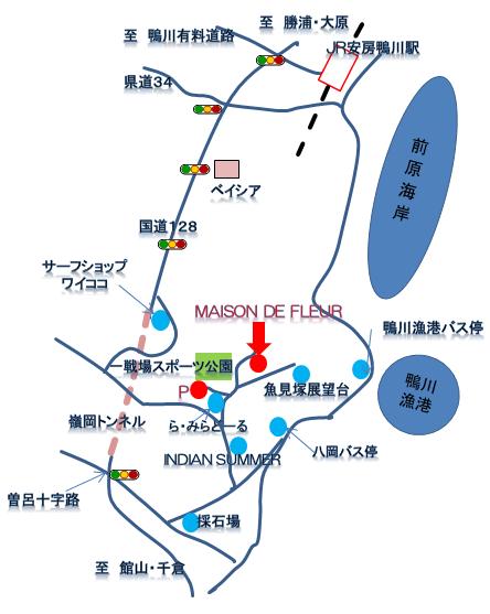 map to maison de fleur メゾンドフルール 地図