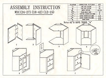 kitchen diagonal wall cabinets assembly instructions