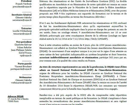 La défense de la spécialitéAnesthésie-Réanimation s'organise.