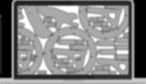 Plano de corte criado com software otimizador para aço, mdf, inox, acrílico, vidro, tecido, mármore, granito e outras chapas.