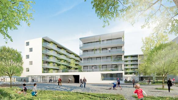 Wettbewerb Wohnbau Frachtenbahnhof  Ankauf