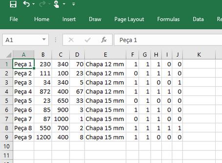 Importar do Excel