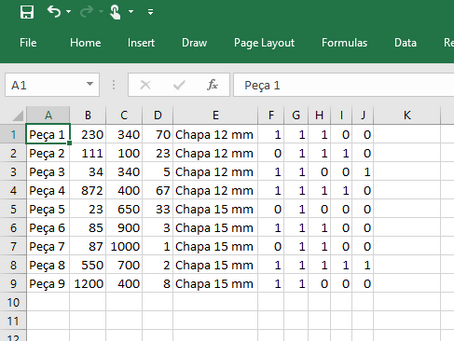 Importar do Excel