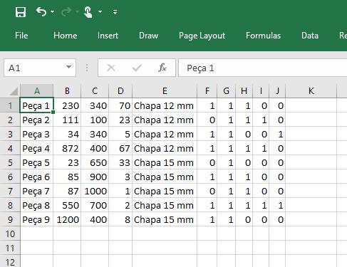 Modelo Planilha Excel