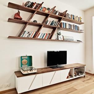 Libreria GIN con mobile tv ANNA