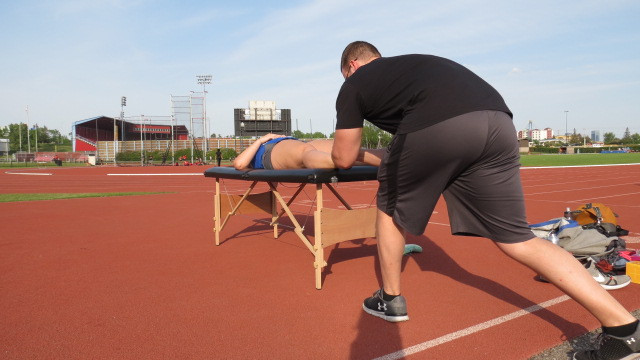 Kurt Witmer, Track side osteopathy therapy in Calgary
