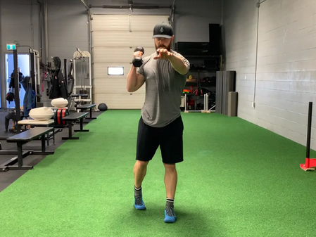 Exercise of the week: Pendulum, Crossbody, Dumbbell to Shoulder, Fixed Feet