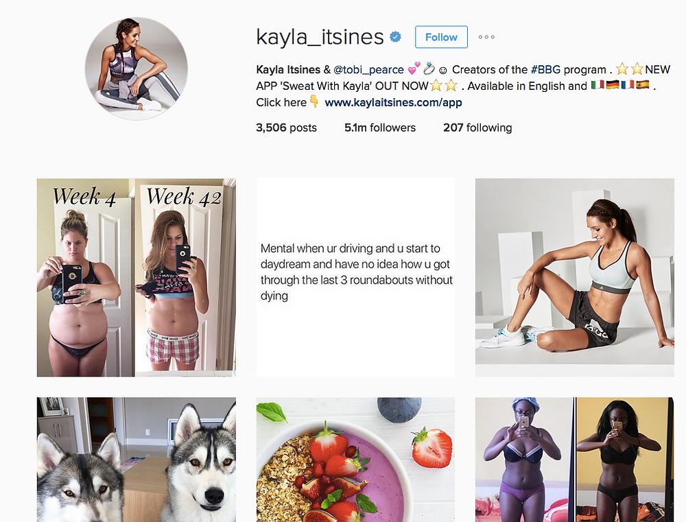Kayla Itsines Instagram