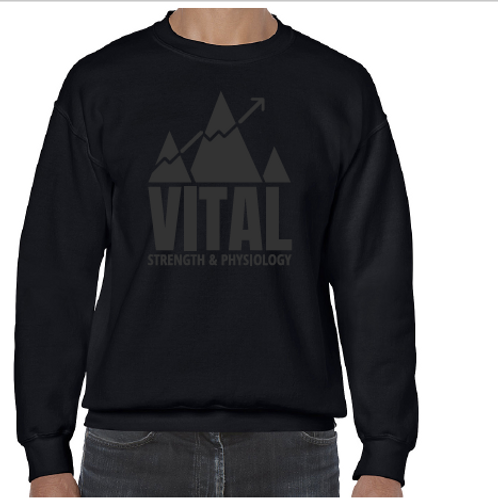 Matte Black Unisex Crew Neck Sweater