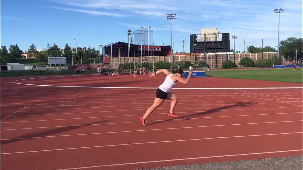 4th step sprint position at the track