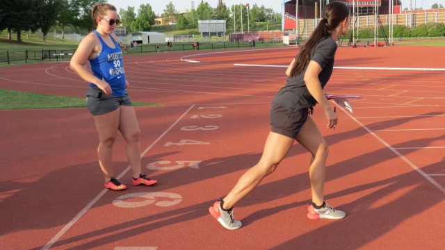 Calgary track sessions; coaching the sprint start