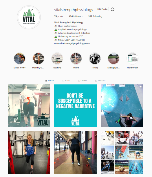 Strength and Fitness Instagram