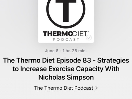 Nick featured on the Thermo Diet podcast, talks about how to improve work capacity