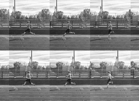 Running Kinogram of 5 different runners